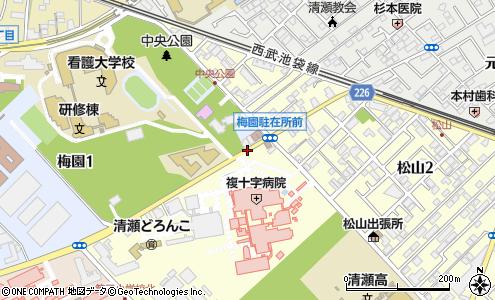 複十字病院(清瀬市/バス停)の住所・地図 マピオン電話帳