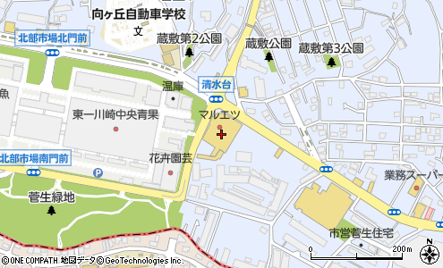 神奈川県川崎市宮前区犬蔵3−9−12. ルートを見る · ビバホーム川崎宮前店の大きい地図を見る
