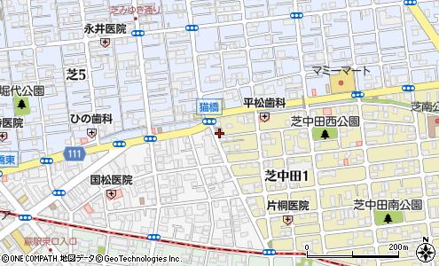 川口芝中田郵便局の大きい地図を見る