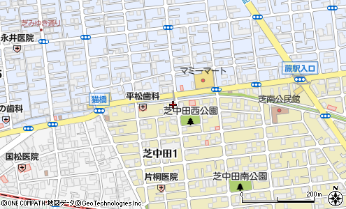 株式会社小宮商店 芝中田店の大きい地図を見る