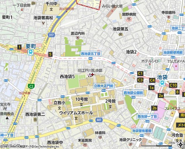 旧 江戸川 乱歩 邸 地図