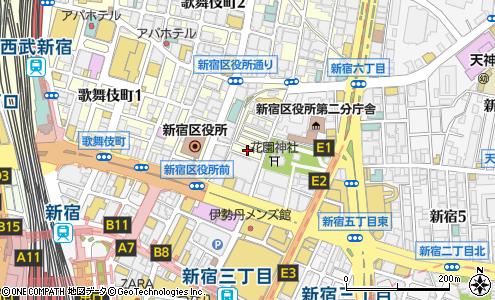 地図 街 新宿 ゴールデン