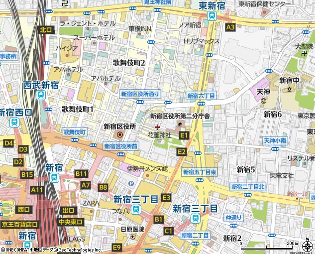 地図 新宿 ゴールデン 街