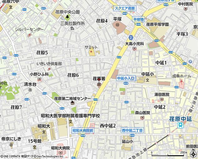 荏原無線タクシー配車センター(品川区/タクシー)の地図 ...