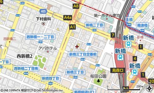 新橋アサイクリニック 港区 病院 の地図 住所 電話番号 マピオン
