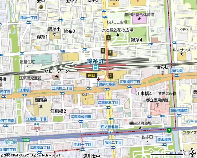東京地下鉄株式会社 半蔵門線錦糸町駅(墨田区/鉄道業)の地図 ...