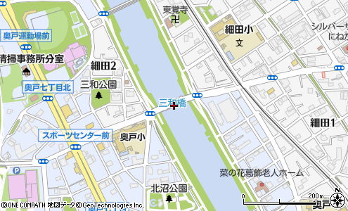 三和橋(葛飾区/橋・トンネル)の住所・地図|マピオン電話帳