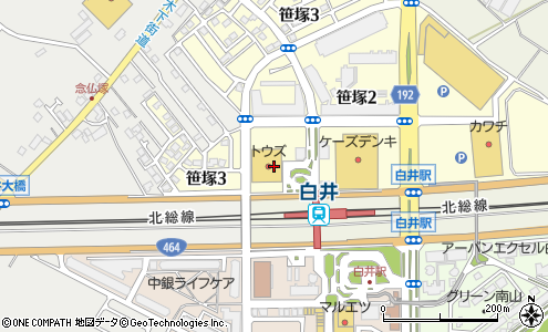 トウズ白井駅前店 白井市 スーパーマーケット の地図 住所 電話