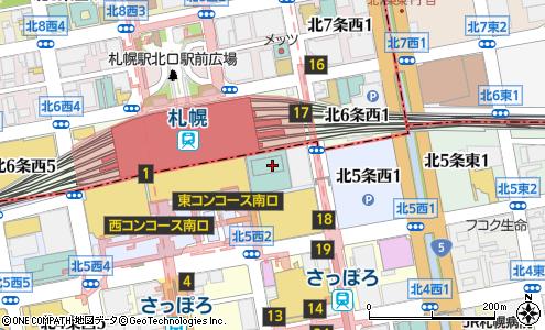 無印良品札幌ステラプレイス店の大きい地図を見る